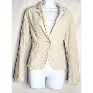 Calvin Klein jeans cream button blazer S